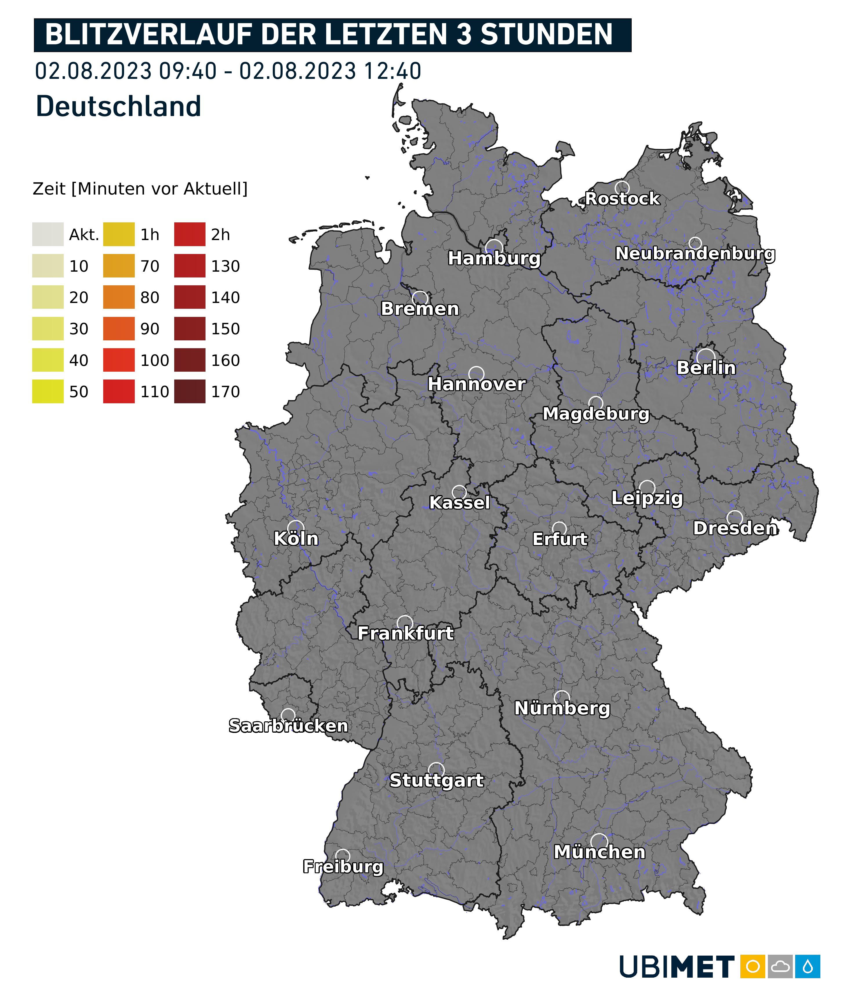 Gewitter in Deutschland jetzt.