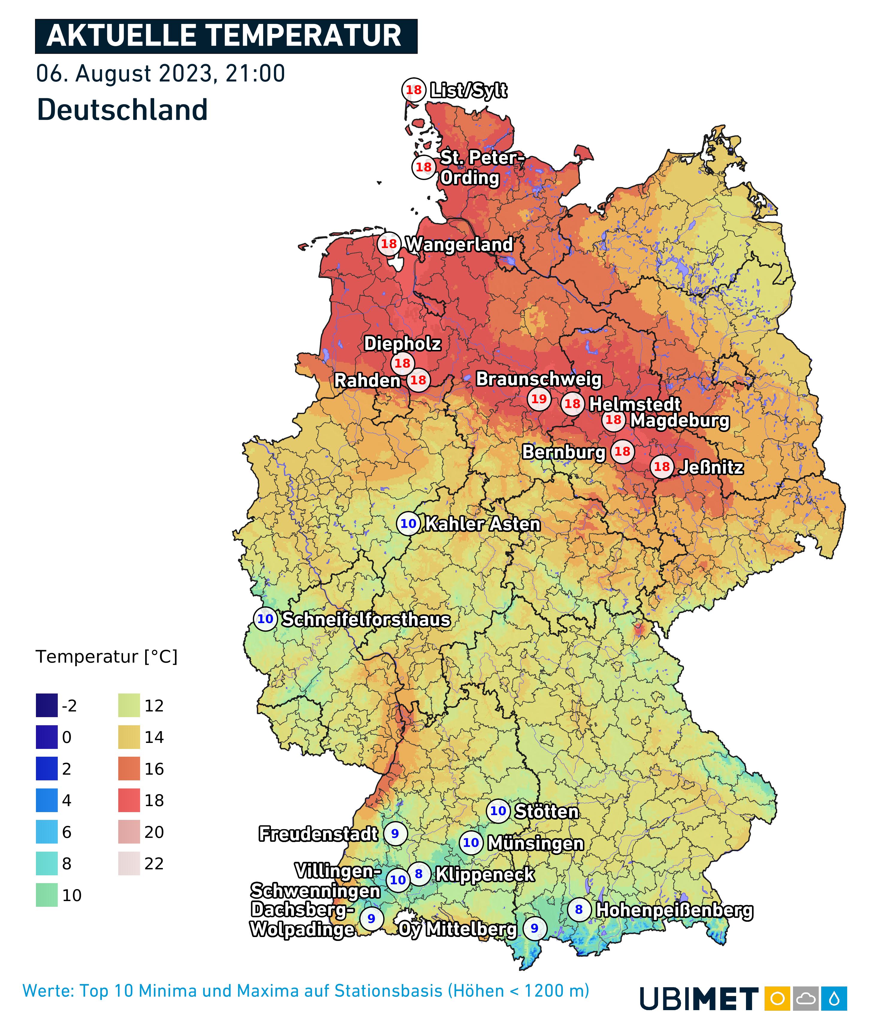 Wetter jetzt Deutschland